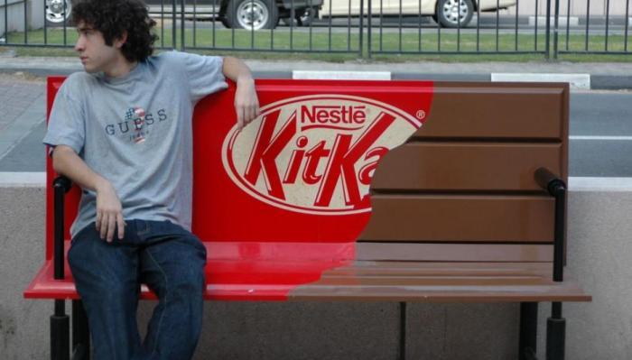 KitKat Park Bench Ad