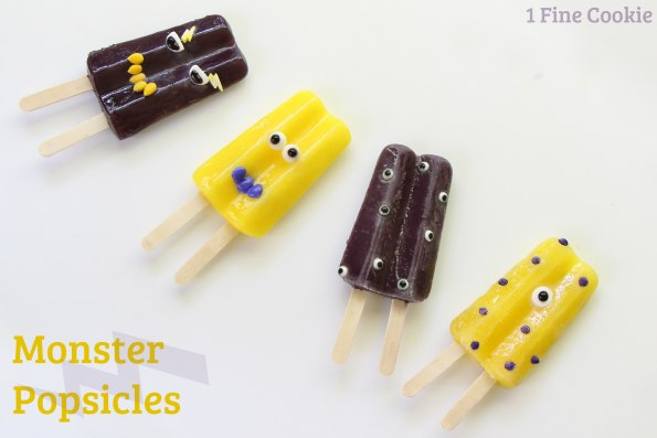 Monster Popsicles Pinterest, Monster popsicles, how to, diy, kids, sprinkles, pops, frozen, idea, monster-themed, monster, theme, party, summer, cute, decorated, halloween, Face