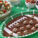 football, simply 7, tailgating, food, layered, dip, season, ideas, recipe, veggie, chips, hummus, healthy, tex mex, shaped, fresh, clean, table, snacks, appetizers, laces, guacamole, video, lentil, quinoa,