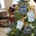 popsicle stick chalkboard ornaments, popsicle stick ornaments, chalkboard, christmas, diy, craft, cute, shabby, chic, tree, holiday, homemade, kids, children, project, custom,