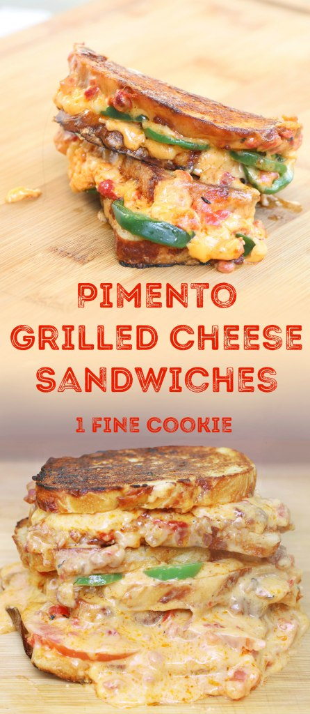 grilled cheese, grilled pimento cheese, sandwiches, recipe, grilled, pimento, cheese, jalapeño, bacon, tomato, pimento grilled cheese, southern, comfort, food, spicy, gooey, cheesy, idea, easy, pinterest,
