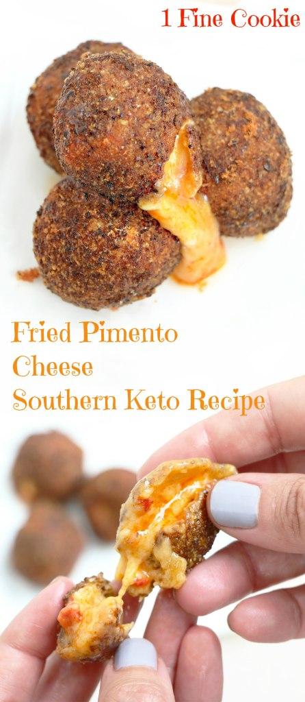 fried pimento cheese, fried pimento, fried cheese, pimento, cheese, balls, keto, low carb, diet, recipe, idea, souther, spicy, texan, food, melted, appetizers, freeze, ball, pin it, pinterest,
