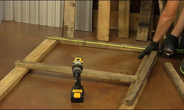 Attach 4 Shelf Supports | Build A Homemade Pallet Smoker