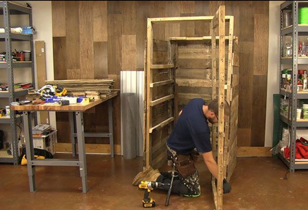 Attach Door Frame | Build A Homemade Pallet Smoker