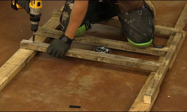 Countersink the Screws | Build A Homemade Pallet Smoker