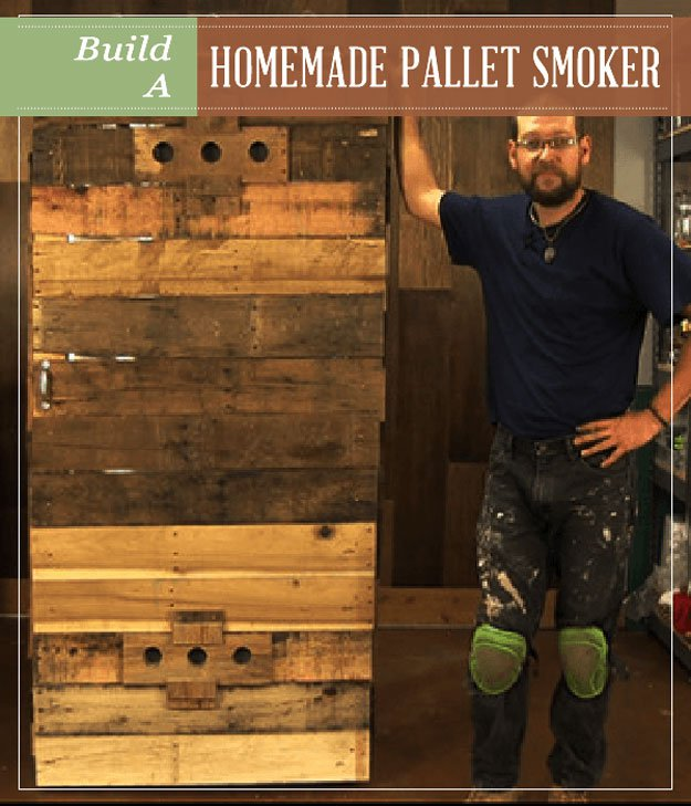 Build A Homemade Pallet Smoker