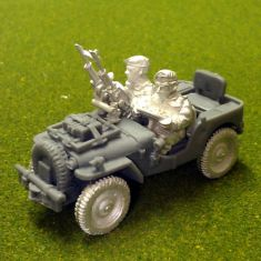 Twin Vickers air landed recce jeep