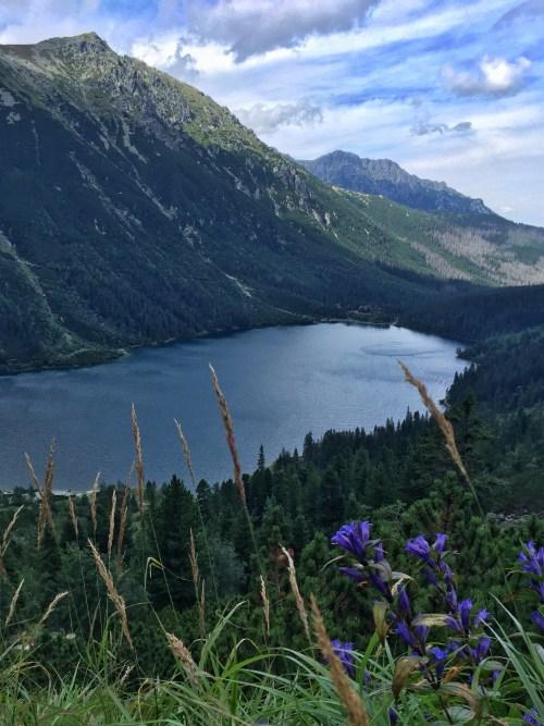 Morskie Oko von oben, Panorama, Hohe Tatra, Rysy