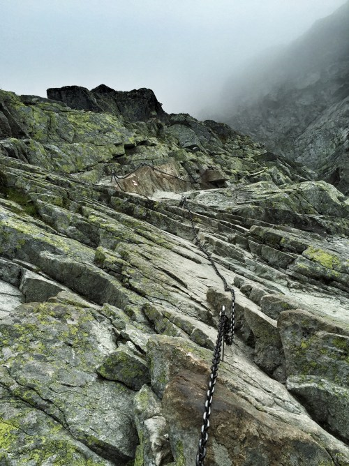 Ketten zur Besteigung des Rysy, Hohe Tatra