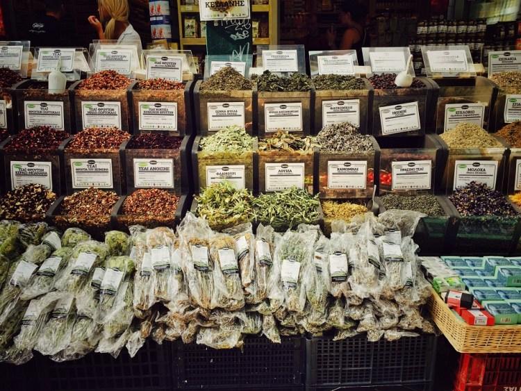 Thessaloniki Kapani Markt Kräuter
