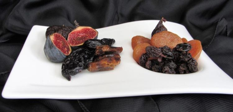 plate of dried fruits