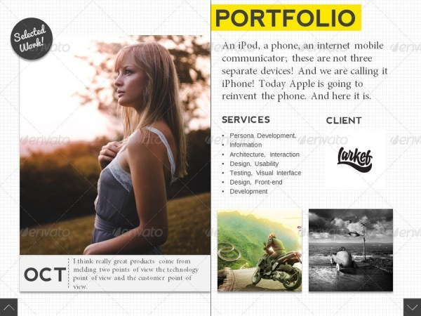 Fancy Scroll Portfolio Powerpoint Template