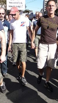 300px Gay couple at same sex marriage march San Francisco 2008