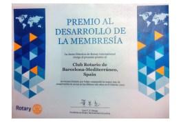 1-Premio al Desarrollo de la Membresia RC_BCN-Mediterraneo
