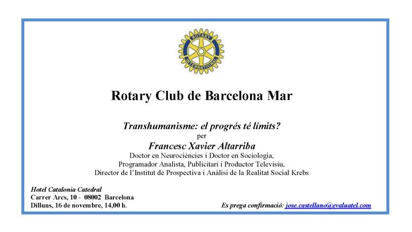 INVITACIÓ CONFERÈNCIA DR. FRANCESC XAVIER ALTARRIBA - 16.11.2015