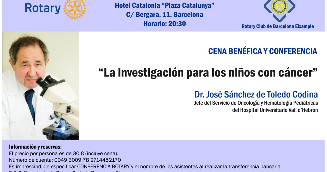 INVITACIÓN DR. JOSÉ SÁNCHEZ DE TOLEDO - 03.12.2015