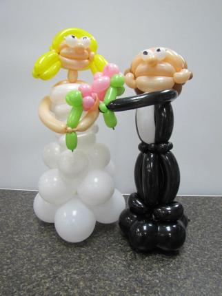 Bride and Groom balloons It's My Party