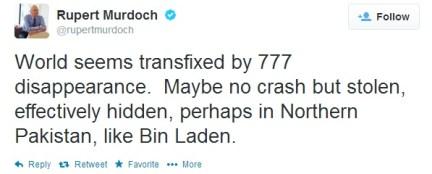 Murdoch Malaysia tweet