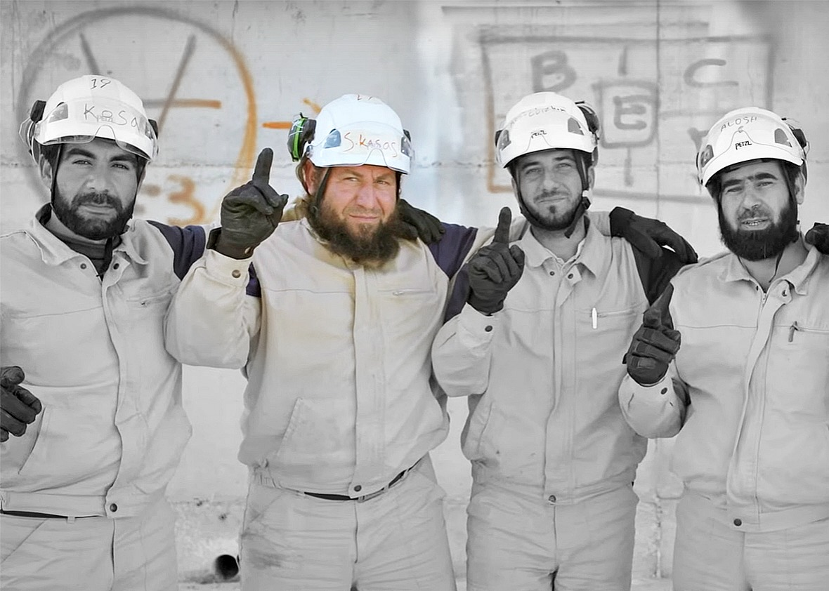 Image result for white helmets fake