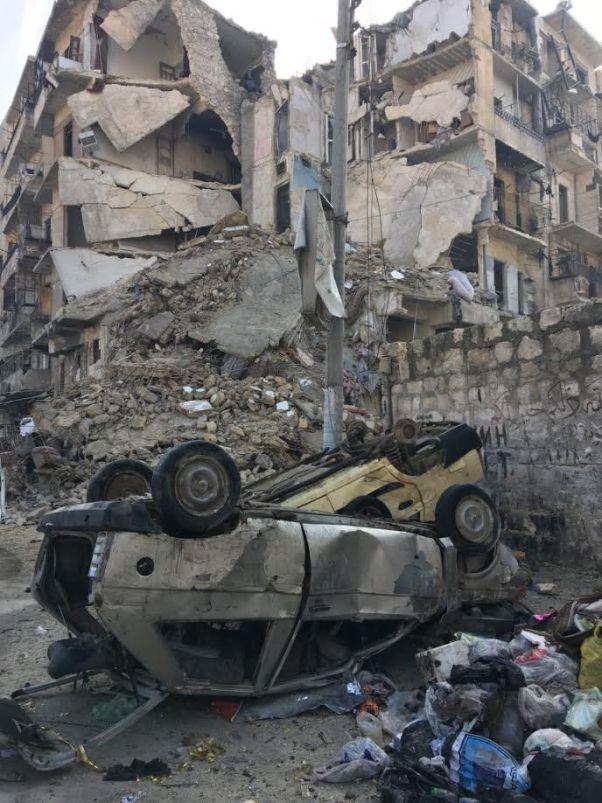 destroyed Aleppo