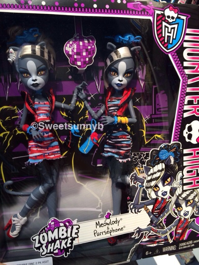 Monster High Zombie Shake Meowlody Purrsephony dolls