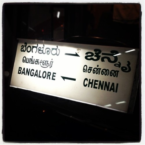 Off to Bengaluru ;-) (at Chennai Mofussil Bus Terminus)