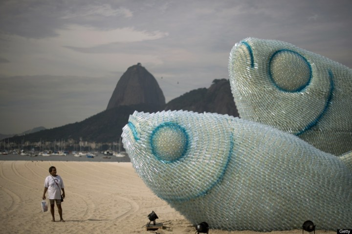 plastic pollution art