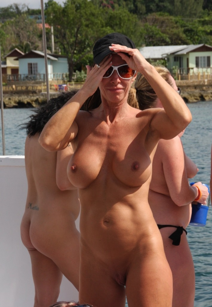 Hedonism nude beach party
