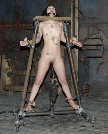 3d bdsm impaled on dildo