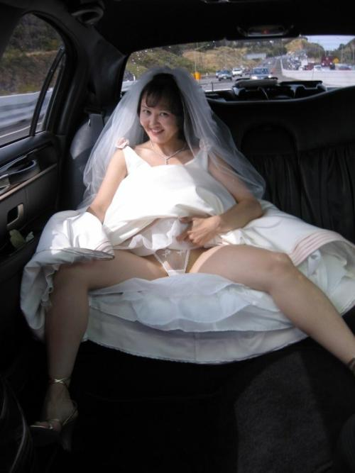 wedding upskirt panties
