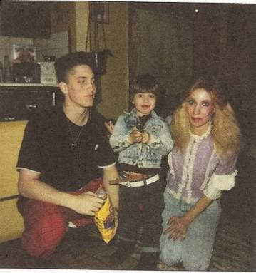 Eminem at a young age, with his mother, Debbie