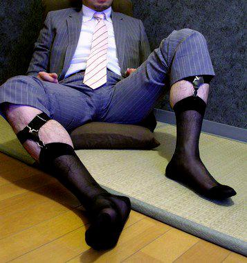 mens sheer socks