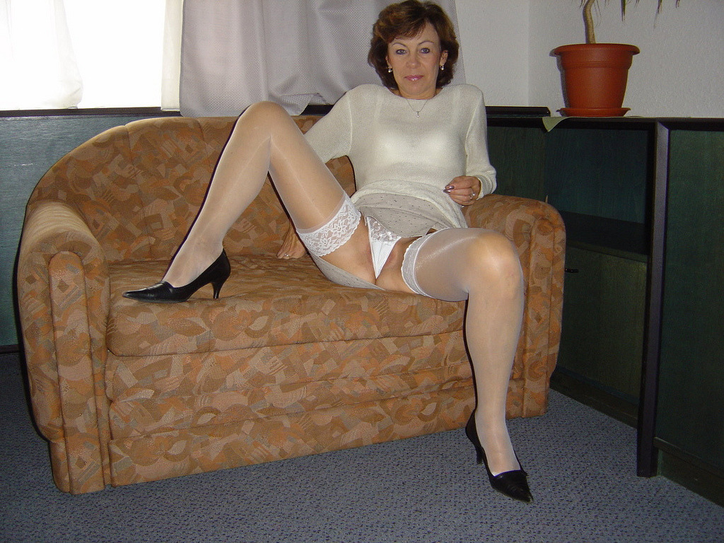 Words... super, Lady in pantyhose tumble apologise, but