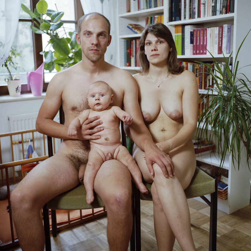 Family mom and nudist me
