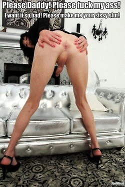 sissy anal captions