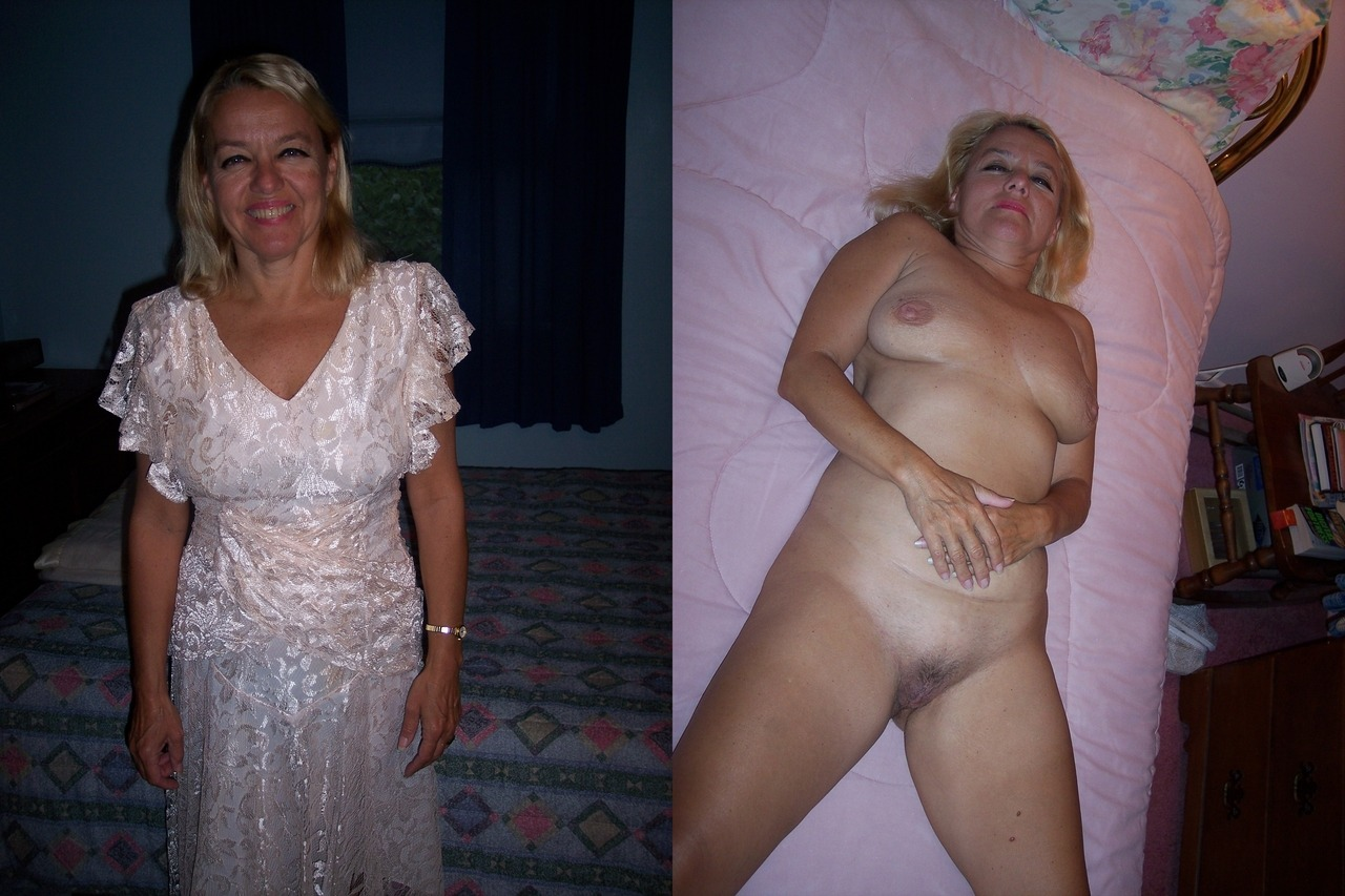 Dressed undressed mature nude before and after are mistaken