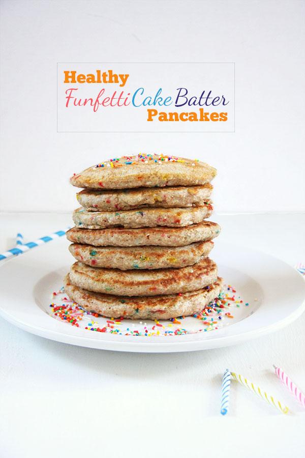 Healthy Funfetti Cake Batter Pancakes I 24 Carrot Life