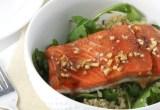 Garlic Soy Glazed Salmon // 24 Carrot Life #healthy #salmon #fish