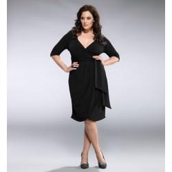 Lovely Black Wrap Dress Size Wrap Dress Pattern Size Wrap Dress Floral Plus Size Wrap Dress Dressi Size Fashion Style