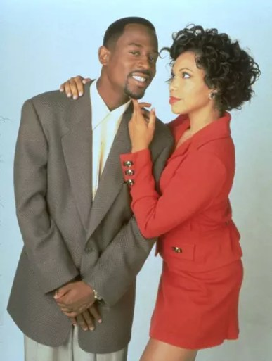 The 90s most loving TV couple: Martin Payne & Gina Lawerence on Martin.
