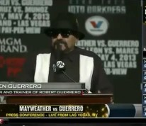 Hilarious Roberto Guerrero's Dad Calls Floyd Mayweather A Woman Beater During Pre Fight Press Conference