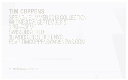 Tim Coppen Spring Summer 2013 Invitation