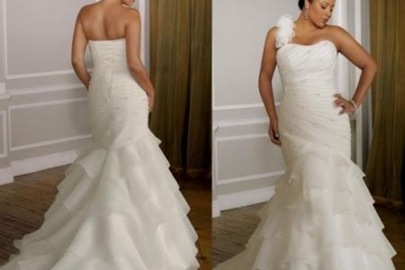 plus size mermaid style wedding dresses 2016 2017 2