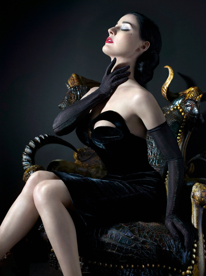 Dita Von Teese by Markus Klinko and Indrani