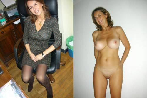 soccer mom dressed undressed