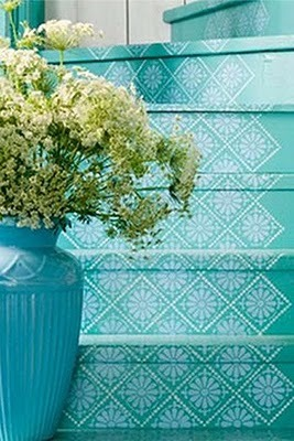 stenciling ideas for steps