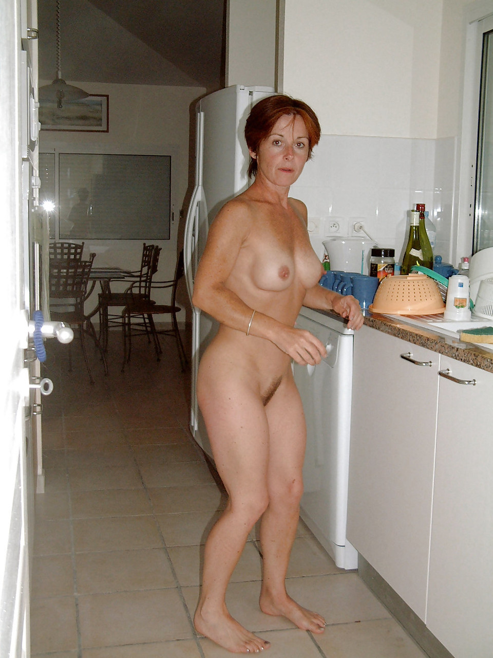 nude friend at home