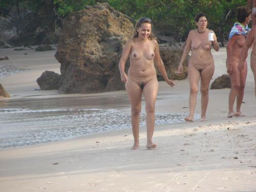 Nudists mother and daughter nude beach agree, amusing