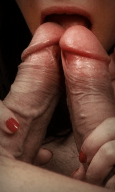 accidentally touching cocks