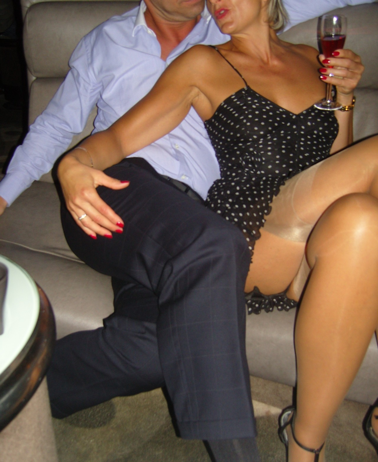clubbing wife with another man